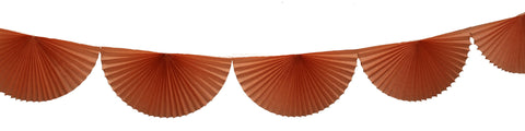 3m Tissue Fan Garland - Peach