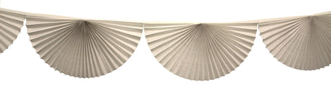 3m Tissue Fan Garland - White