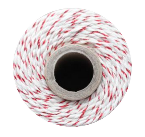 Twine Spool – Red Shimmer Stripe