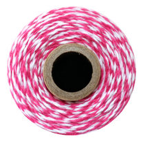 Twine Spool – Hot Pink Stripe