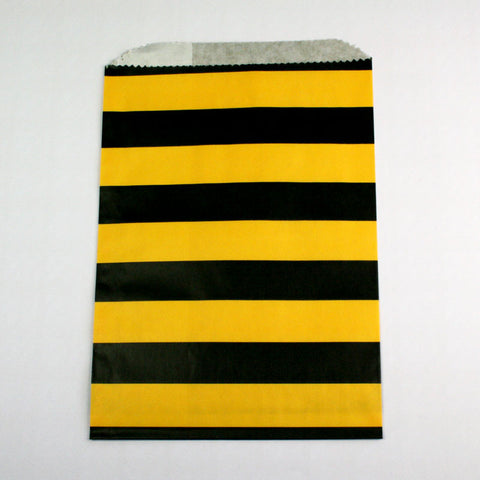 Yellow & Black Stripe Bags