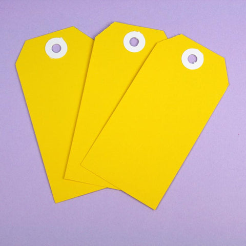 10 x XL Yellow Shipping Tags
