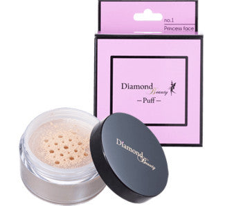 Diamond Beauty - Puff 01 Princess face (Semi-matte) Loose Powder  Powder - Japan Skin