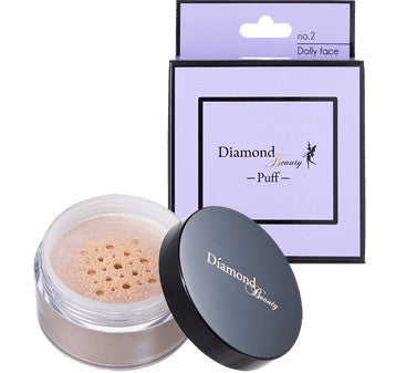 Diamond Beauty - Puff 02 Dolly Face (Matte) Loose Powder  Powder - Japan Skin