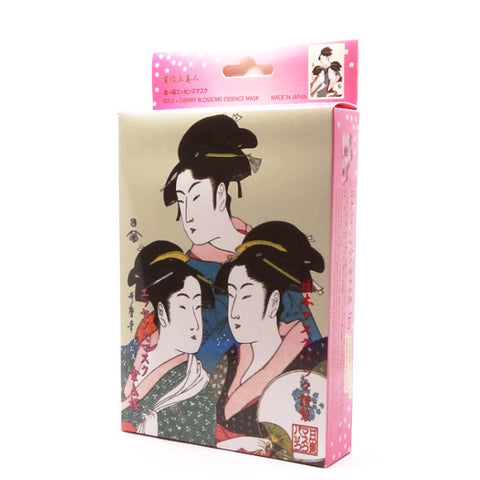 Mitomo - Gold & Cherry Blossoms Essence Mask (3 or 10 sheets)  Facial Mask - Japan Skin