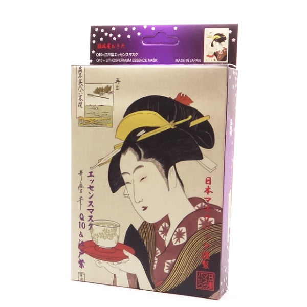 Mitomo - Q10 & Lithospermum Essence Mask (3 or 10 sheets)  Facial Mask - Japan Skin