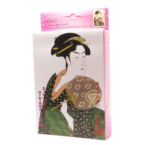 Mitomo - Royal Jelly & Cherry Blossoms Essence Mask (3 or 10 sheets)  Facial Mask - Japan Skin