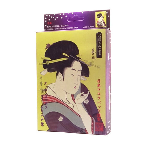 Mitomo - Vitamin & Lithospermum Essence Mask (3 or 10 sheets)  Facial Mask - Japan Skin