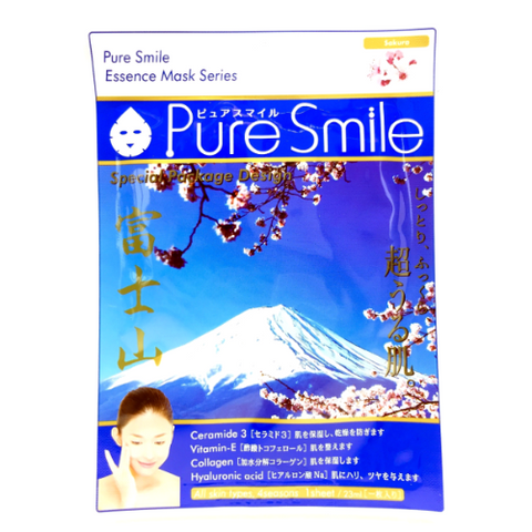 Pure Smile Essence Mask Cherry Blossom (3 sheets)  Facial Mask - Japan Skin