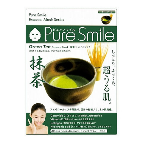 Pure Smile Essence Mask Green Tea [BUY 3 GET 1 FREE]