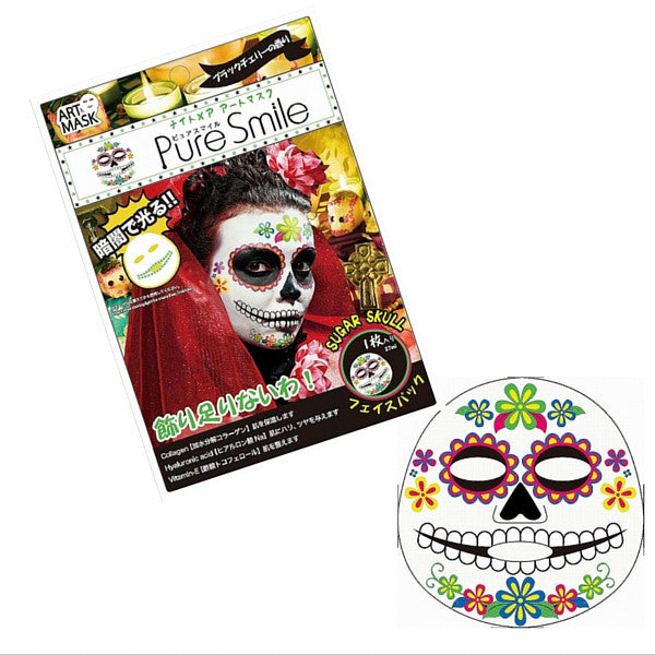 Pure Smile Essence Sheet Mask Sugar Skull (Glow in the dark)  Facial Mask - Japan Skin
