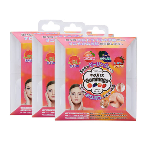 Pure Smile - Fruits Gommage Peeling Gel (3 Packs)  Cleansing - Japan Skin