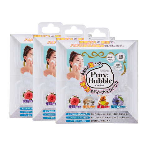 Pure Smile - Pure Bubble (Cleanser - 3 packs)  Cleansing - Japan Skin
