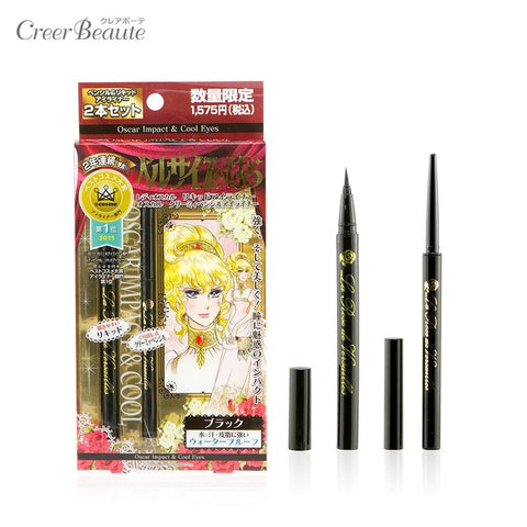 La Rose de Versailles - Pencil Eyeliner Black and Lady Oscar Liquid Eyeliner Pack  Eyeliner - Japan Skin