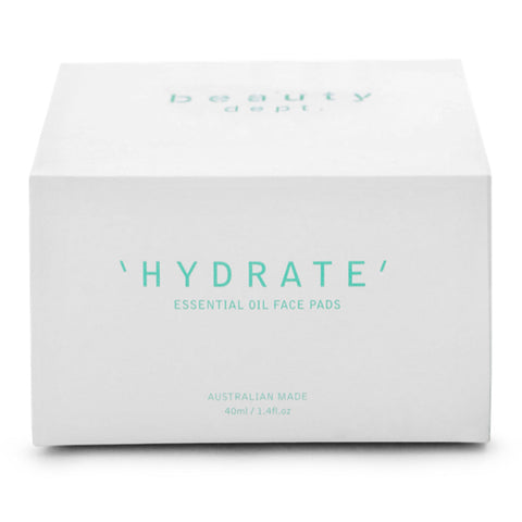 Beauty Dept. 'Hydrate' Essential Oil Face Pads