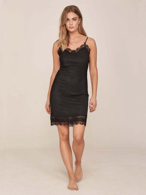 NÜ KAYA feminine lace dress Dresses Black