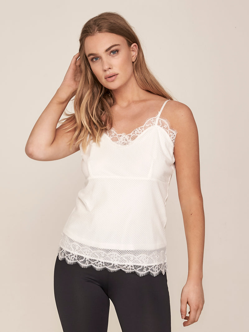 NÜ MARA feminine lace top Top Black
