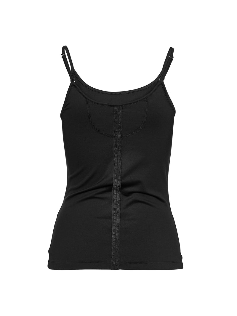 NÜ RUN top with spaghetti straps Top Black