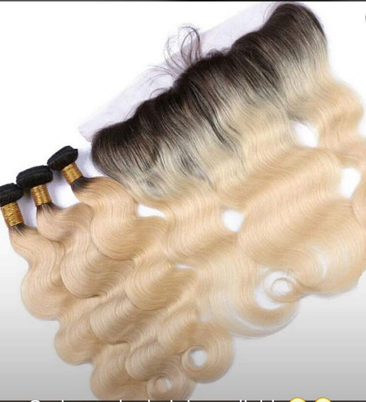 3 Bundles with lace frontal - bQute LuXe Hair & Lash Boutique