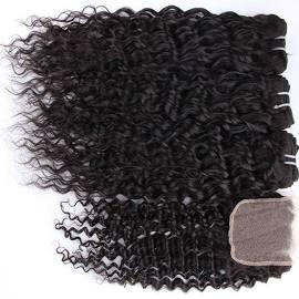 bQute Lace Closure Bundle INDIE Q' Curly 10in Closure, 12 in, 14in,16in Wefted Hair - bQute LuXe Hair & Lash Boutique