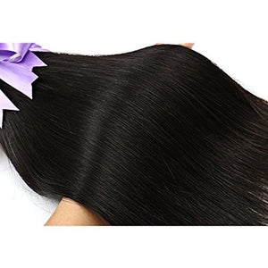 SYLK Straight Hair 3 Bundles Human Hair 100% Natural Hair Extensions - bQute LuXe Hair & Lash Boutique