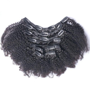 Brazilian Afro Kinky Curly Clip-In's - bQute LuXe Hair & Lash Boutique