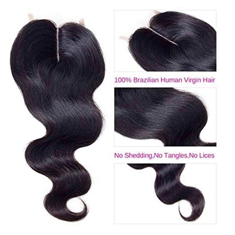 100% Virgin Brazilian Hair Lace Closure Body Wave Free Part - bQute LuXe Hair & Lash Boutique