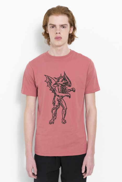 RALANDO T-SHIRT W.PRINT IN DUSTY CORAL