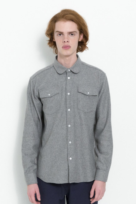 TOM WESTERN SHIRT W/ LONG SLEEVES IN GREY