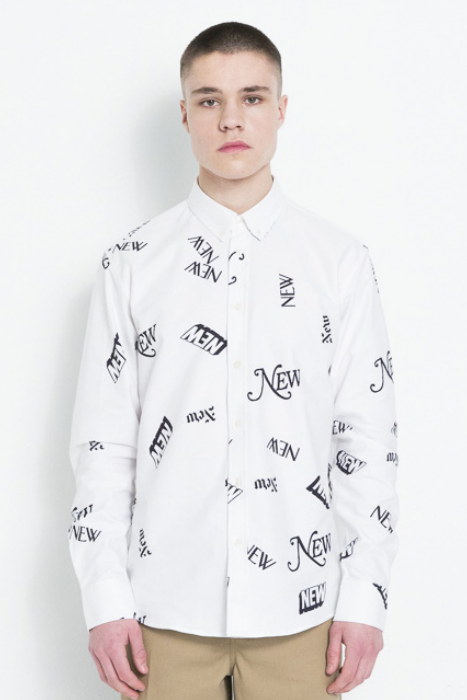 ALL SHIRT WITH ALL OVER PRINT - WHITE
