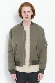 THOMASSOM BOMBER JACKET IN ARMY GREEN