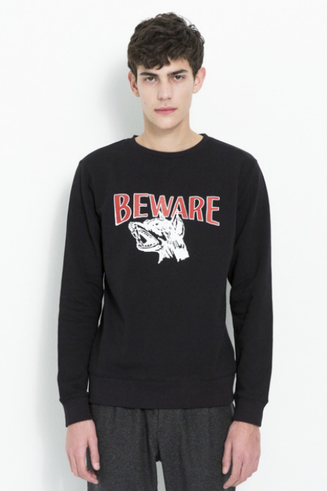 ROY SWEAT W. PRINT IN BLACK