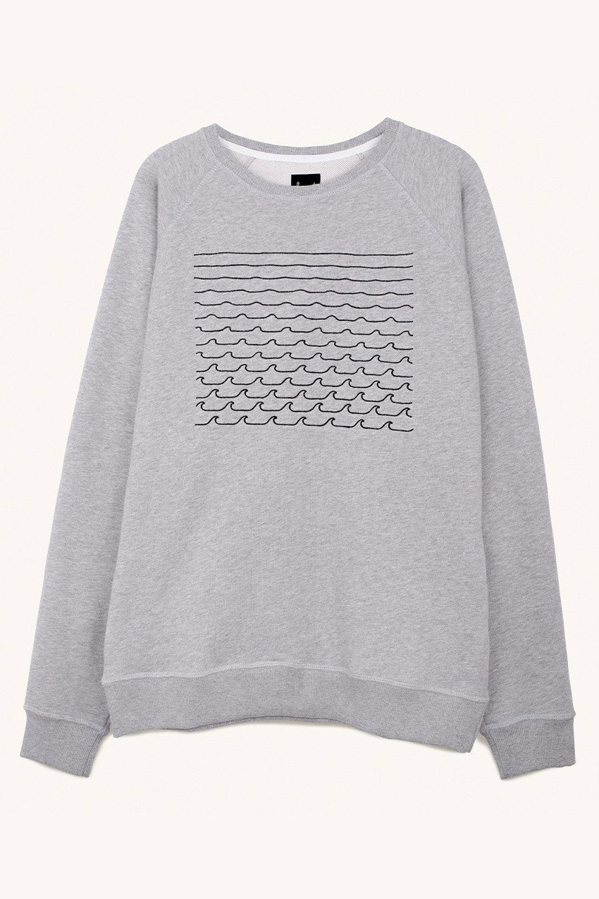 Waves Sweat in Grey