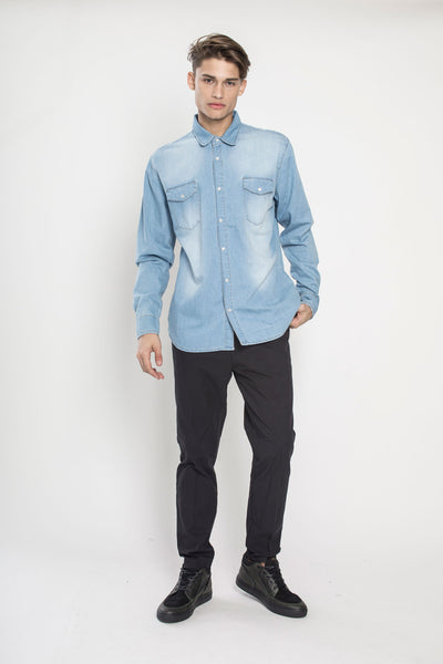 Whaiw Denim Shirt in Raw Denim
