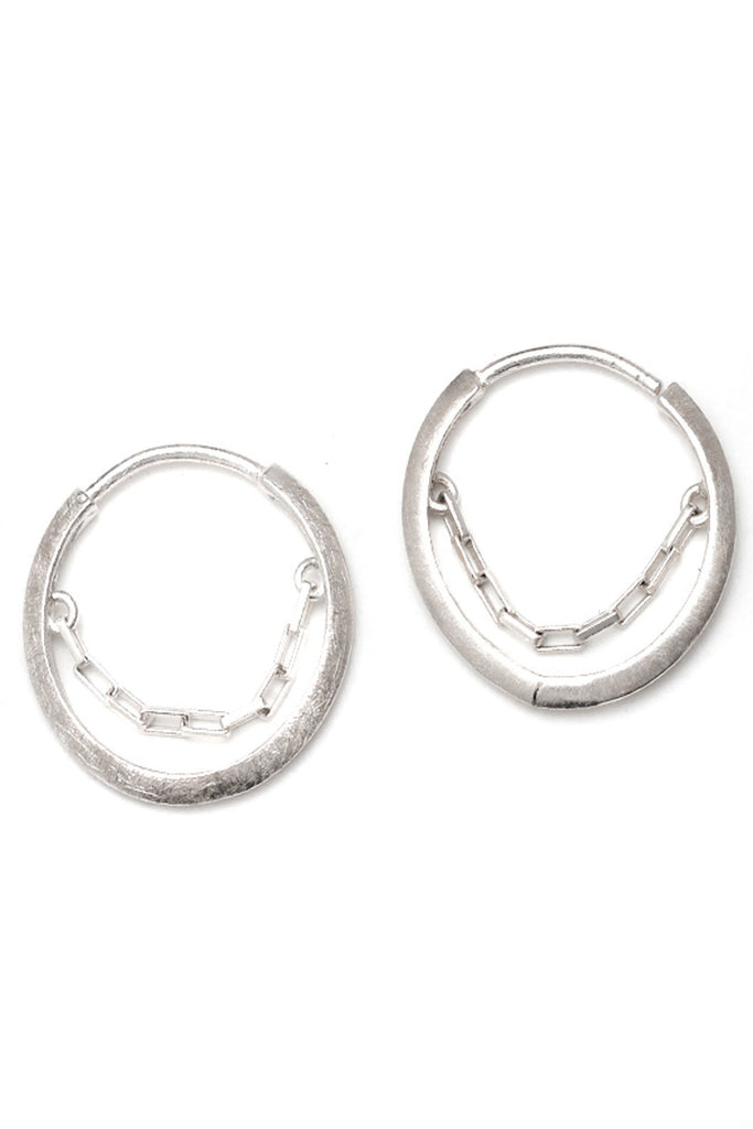 The Lucky Wheel Earrings in Sterling Silver