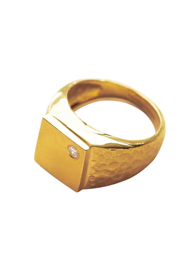 The Squared Ring in 18K Gold