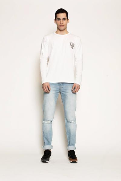 Albert White Long Sleeve T-Shirt