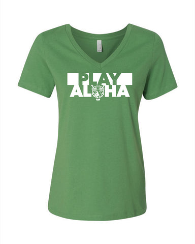 Women's V-neck - Play Aloha