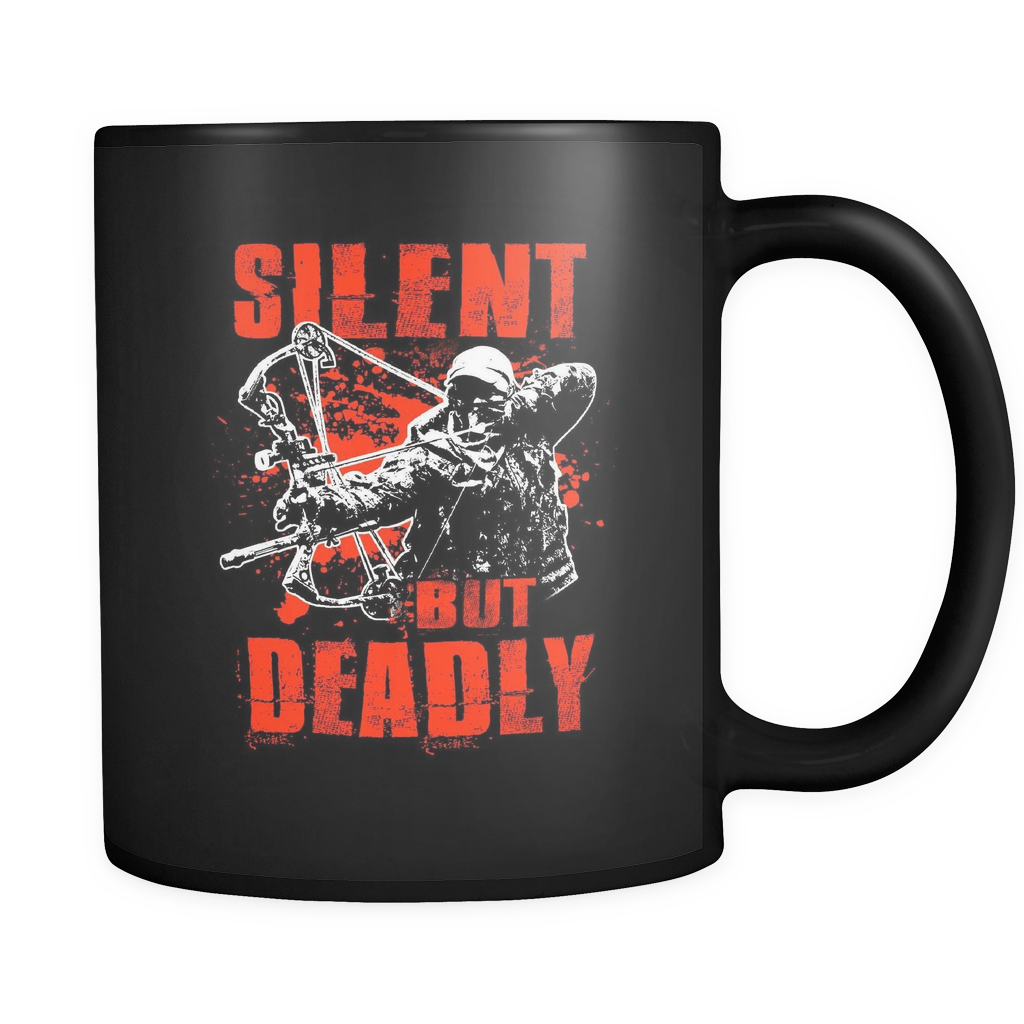Silent But Deadly Mug Black Bowhunting