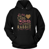 This Girl Loves Her Lionhead Rabbit - Rabbit Lover Shirt And Gift