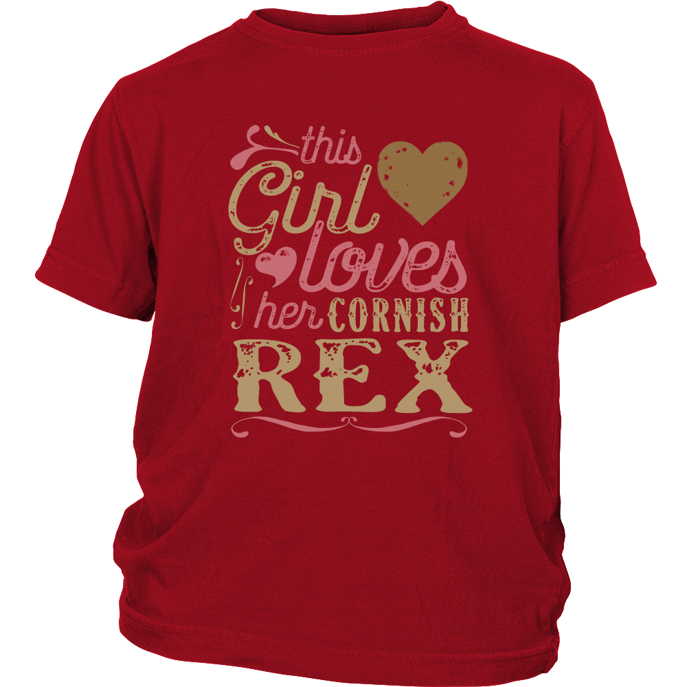 This Girl Loves Her Cornish Rex - Cat Lover Shirt And Gift