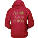 This Girl Loves Her Appaloosa - Back print - Horse Lover Shirt Gift