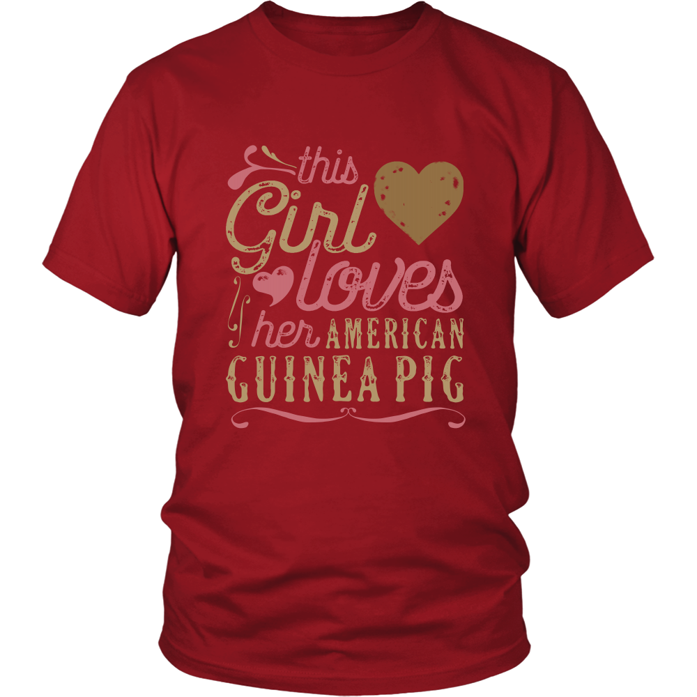 This Girl Loves Her American Guinea Pig - Guinea Pig Lover Shirt And Gift