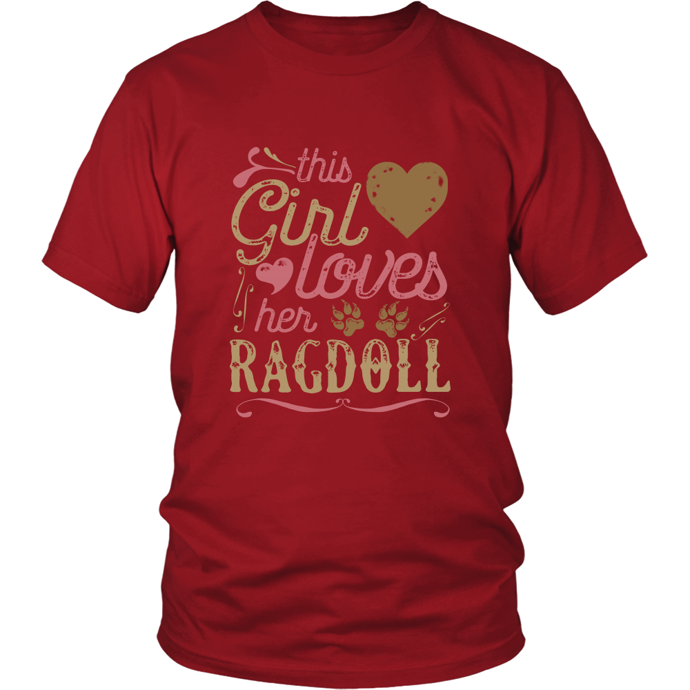 This Girl Loves Her Ragdoll - Cat Shirt Cat Gift Mother's Day Gift