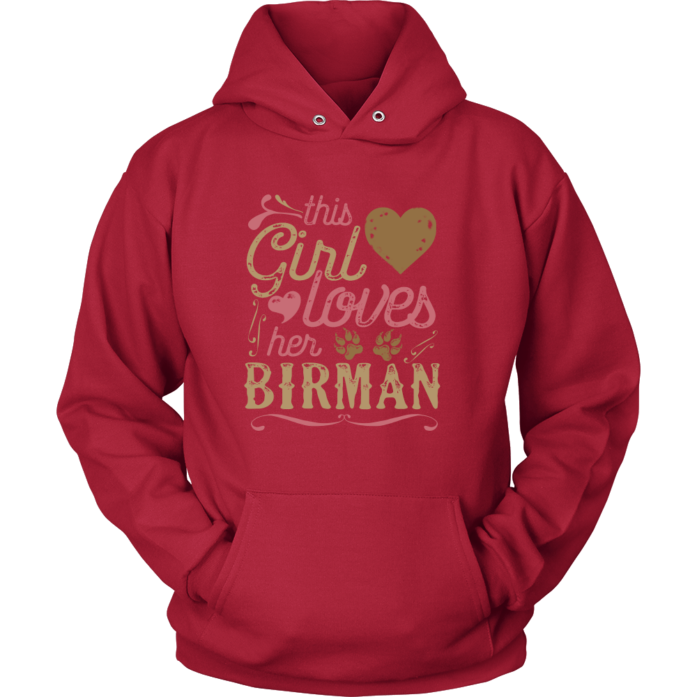 This Girl Loves Her Birman - Cat Shirt Cat Gift Mother's Day Gift
