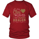 This Girl Loves Her Bearded Dragon - Lizard Lover Shirt And Gift Reptile