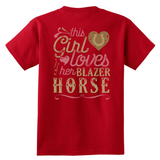 This Girl Loves Her Blazer Horse - Back Print - Horse Lover Shirt Gift