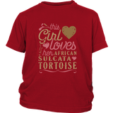 This Girl Loves Her African Sultata Tortoise - Turtle Lover Shirt And Gift