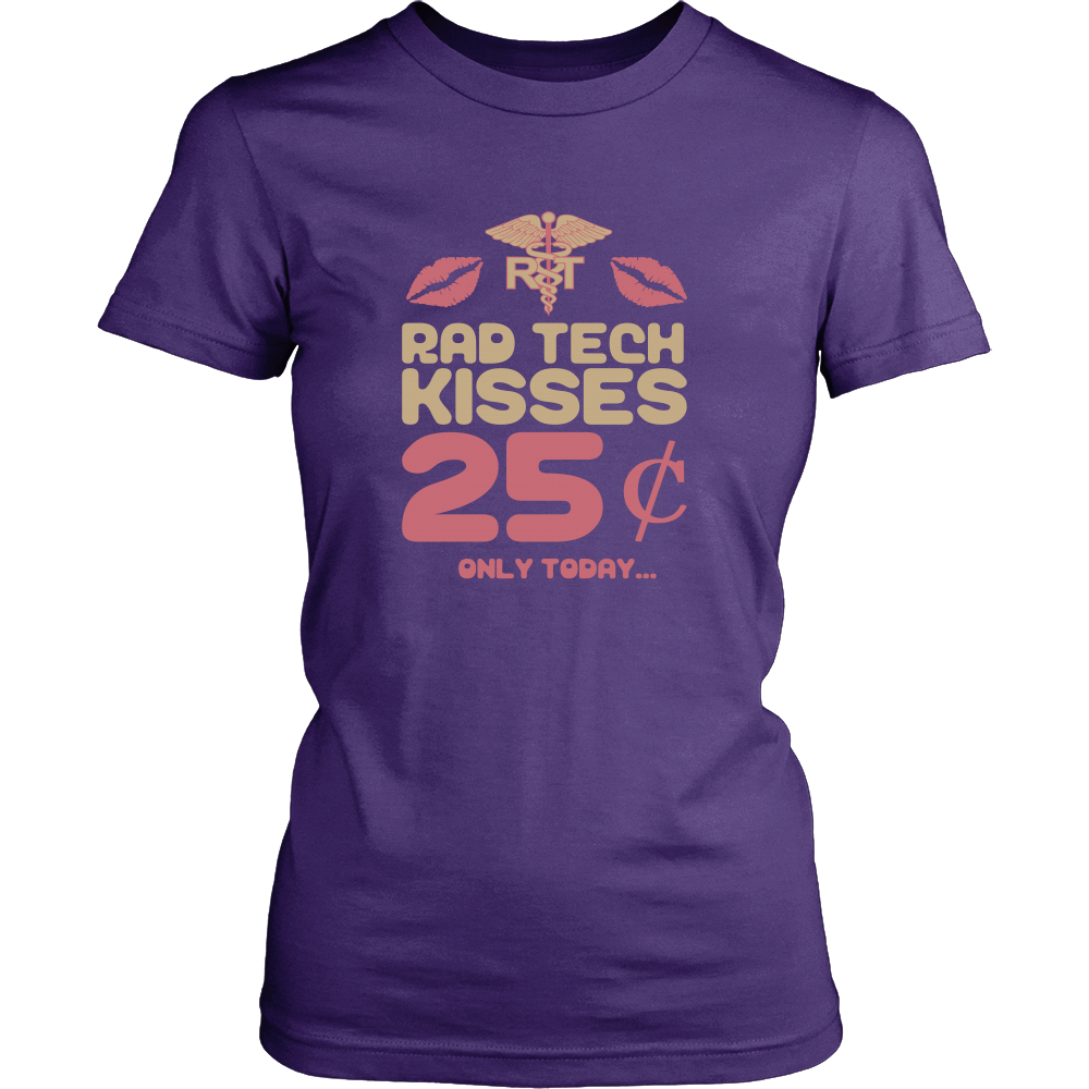 Rad Tech Kisses - Radiologic Technologist Valentine's Day Shirt