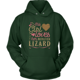 This Girl Loves Her Monitor Lizard - Lizard Lover Reptile Shirt Gift